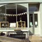 The shop front in the sunshine